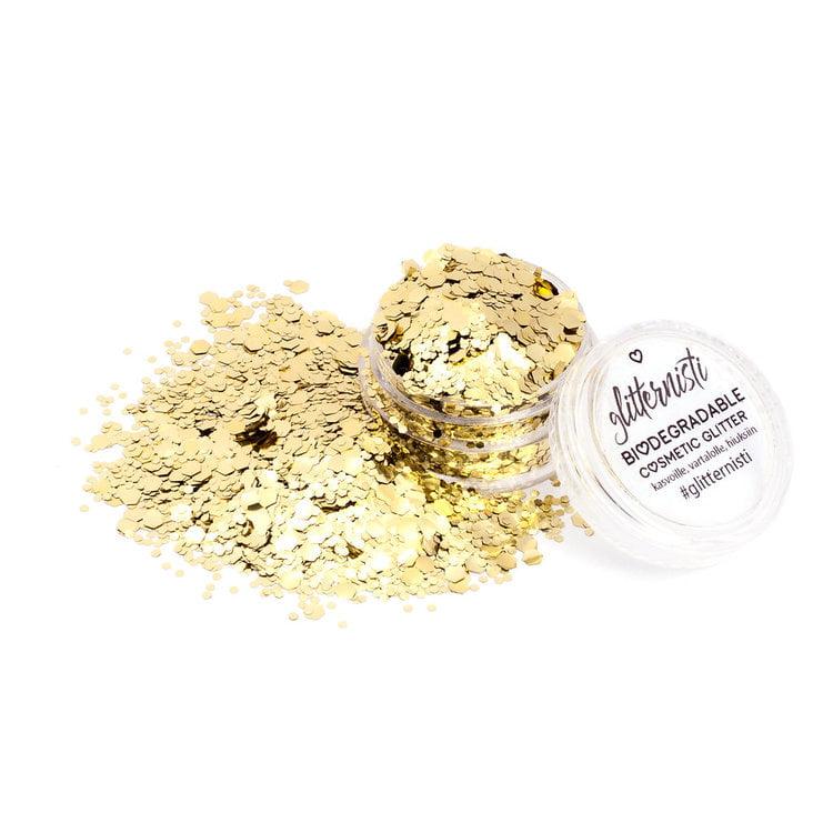 Ecoglitter in gold.