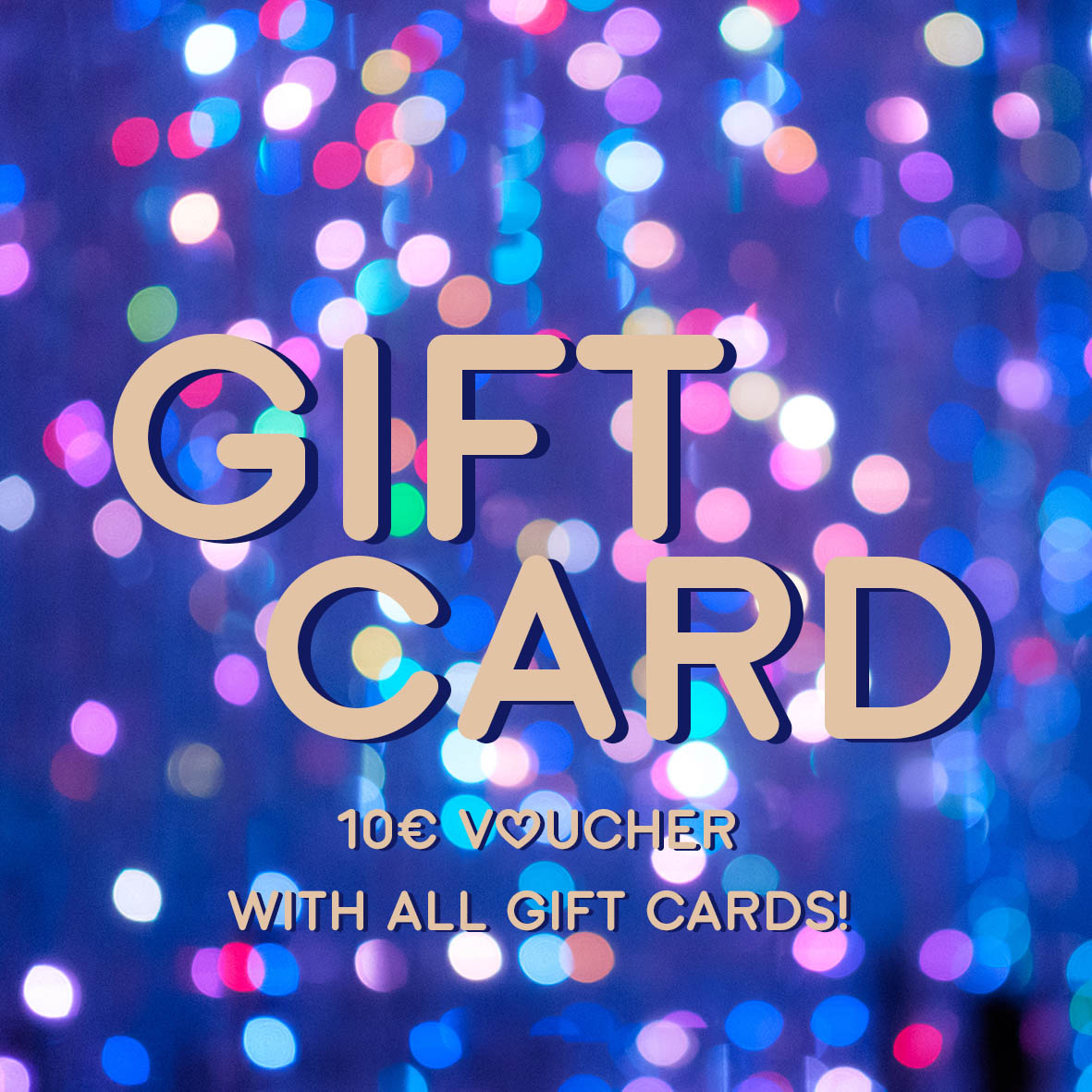 Gift card to online store.