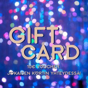 Lahjakortti Glitternistin verkkokauppaan.