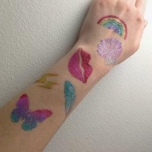 GLITTERNISTI tattoo stencils