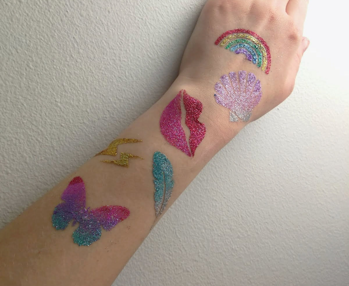 GLITTERNISTI tattoo stencils