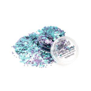 Eco Spell on kosmetiikka glitter iholle.