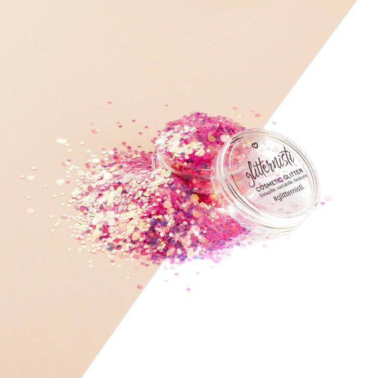 iridescent pink glitter for makeup