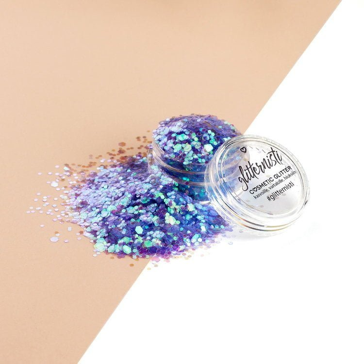 iridescent purple glitter for makeup
