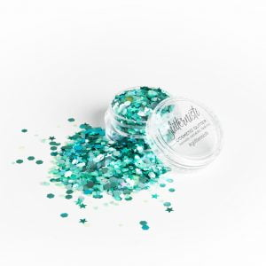 vihreä kosmetiikka glitter