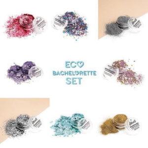 bachelorette glitter set with biodegradable glitter