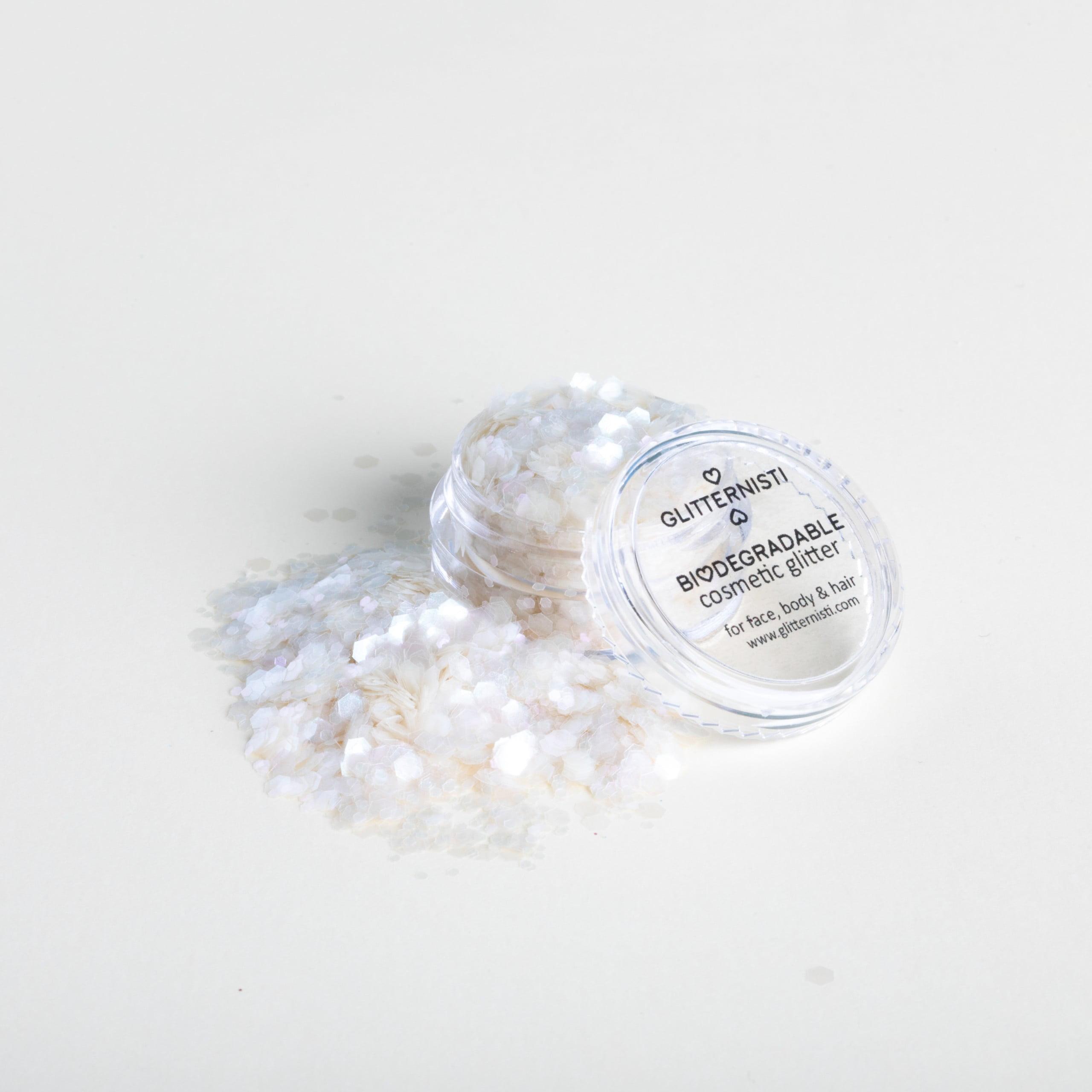 Eco chunky iridescent ekoglitter on luonnossa hajoava kosmetiikka glitter.
