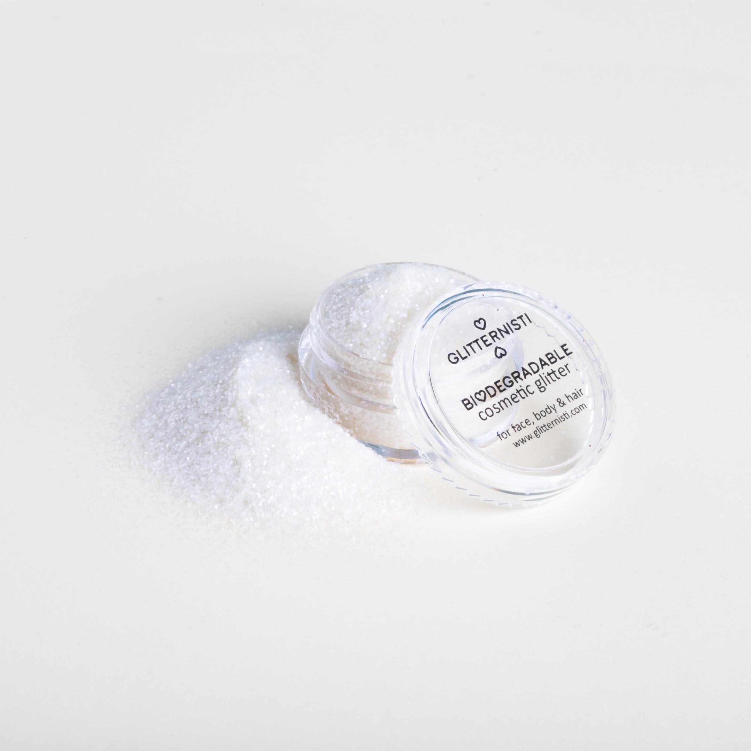 Eco fine iridescent ekoglitter on biohajoava kosmeettinen tuote.
