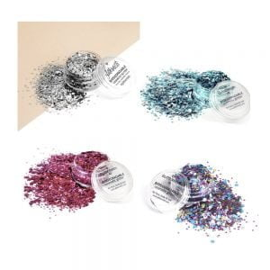 Eco earthlings ecoglitter set includes four biodegradable glitters.