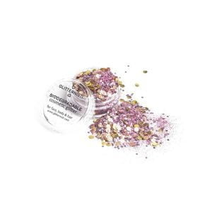 ecoglitter mix pink gold biodegradable cosmetic glitter