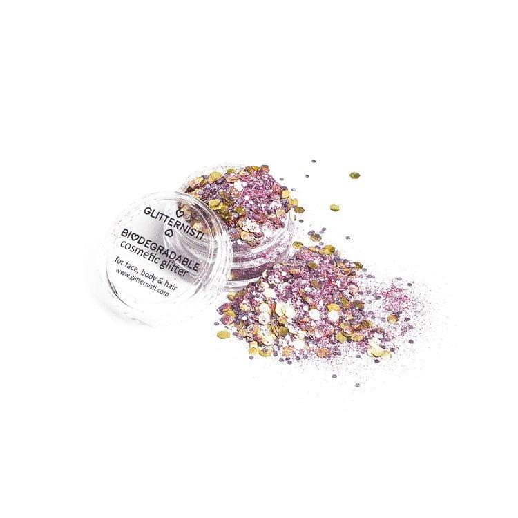 Eco Pink Steel biohajoava kosmeettinen glitter