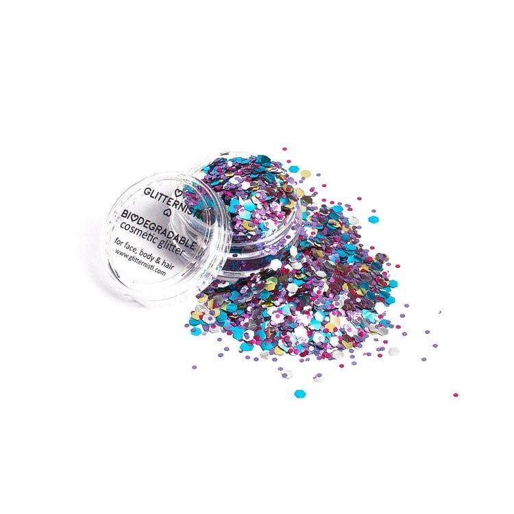 Eco universe on monivärinen kosmeettinen glitter