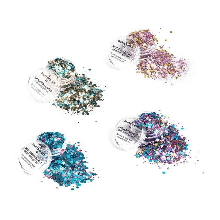 Eco Metallics Glitter set for makeup.