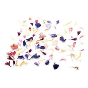Petals Face Florals are real hand pressed flowers.
