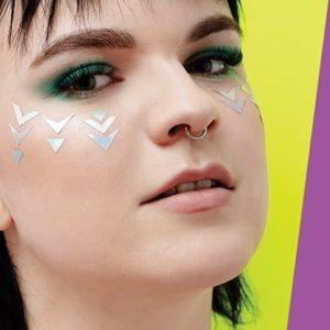 glitternisti face sticker iridescent