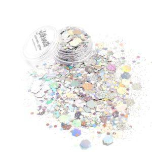 Fiji xl on hopeinen kosmeettinen glitter