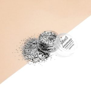 Eco silver ecoglitter is biodegradable cosmetic glitter.