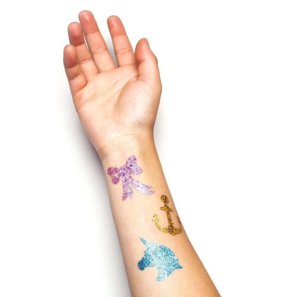 Glitter tattoo shapes.