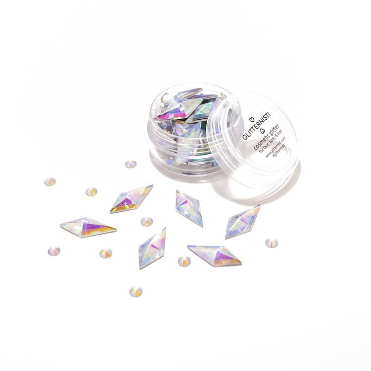 Diamond Mix face gems in different colors.