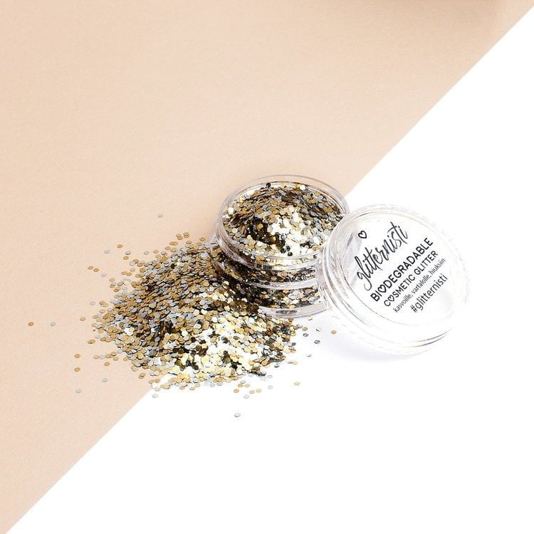 eco magic ecoglitter is biodegradable cosmetic glitter.