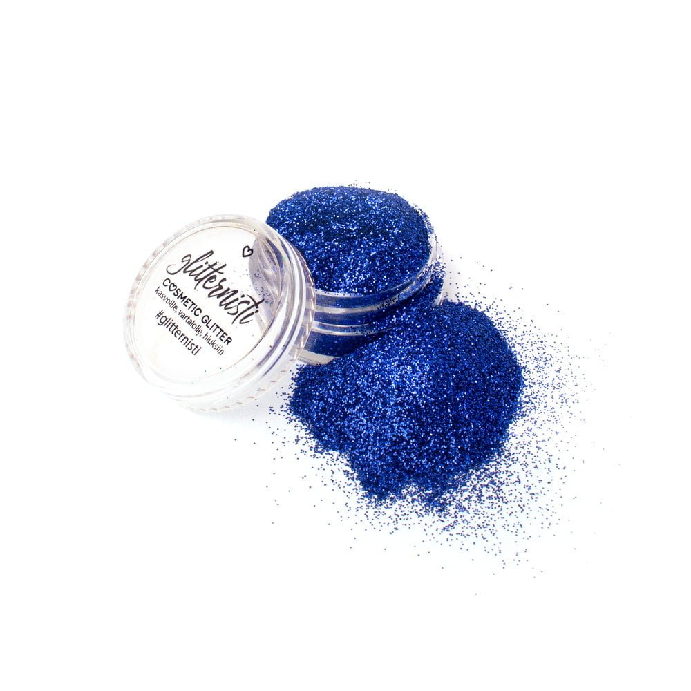 Blue cosmetic glitter for makeup.