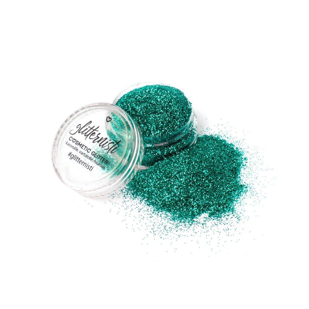 Only Jade glitter on vihreän sävyinen kosmetiikka glitter.