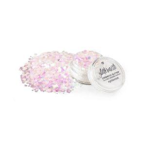 uv pink cosmetic glitter