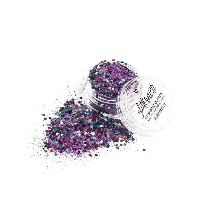 purple black cosmetic glitter for face glitter makeup