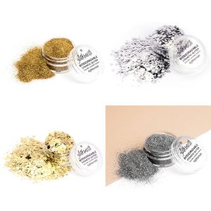 Queen Ecoglitter set consists four biodegradable glitters.