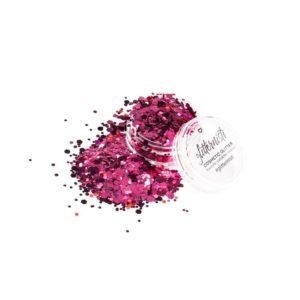 dark pink cosmetic glitter glitter makeup