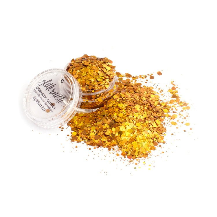 Super Gold glitter on isohileinen kultainen kosmettiikka glitter.