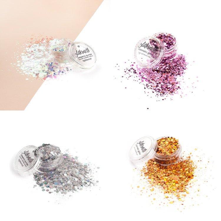 super kosmeettinen glitter setti