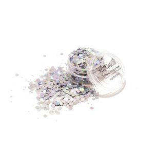 hopean värinen kosmetiikka glitter