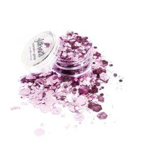 pink big cosmetic glitter