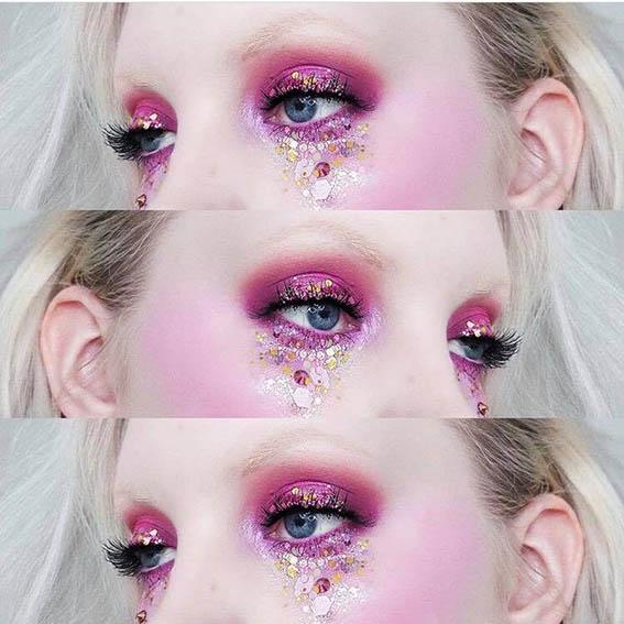 Isohileisillä glittereillä saa tehtyä upeita meikkejä!