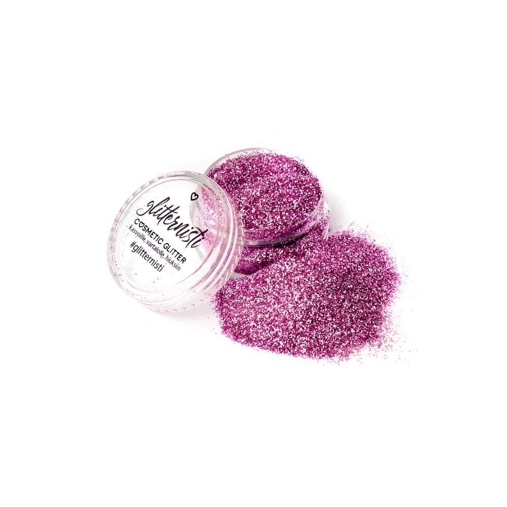 Only Pink glitter on pinkki kosmetiikka glitter.