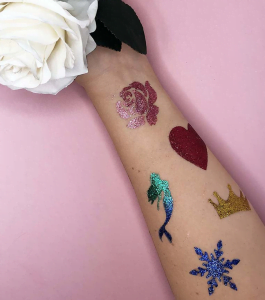 Princess glitter tattoos