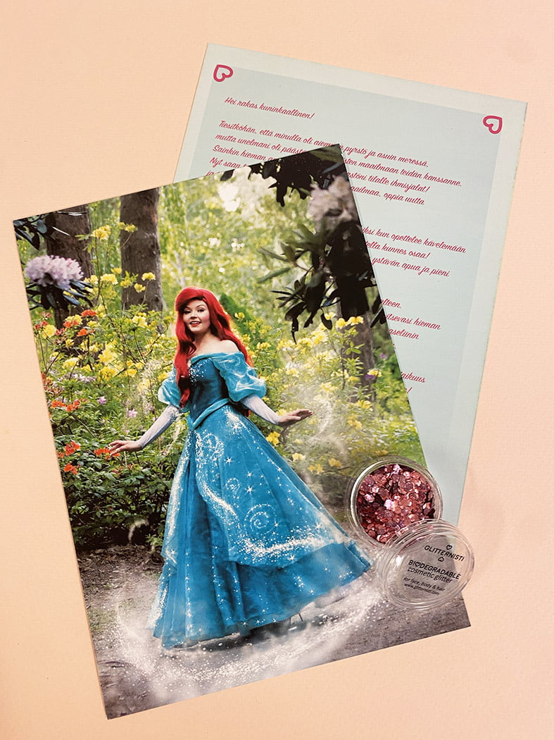 Kirje Prinsessalta Pieni Merenneito -versio.