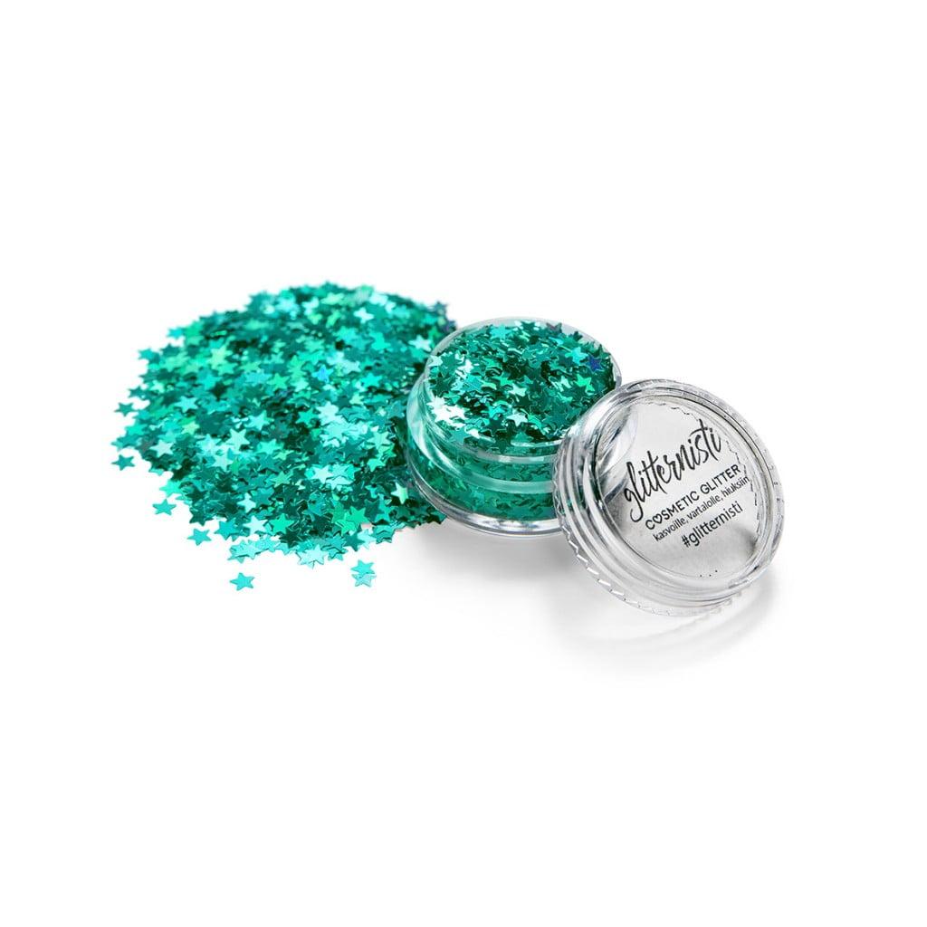 Kosmeettinen glitter jade stars
