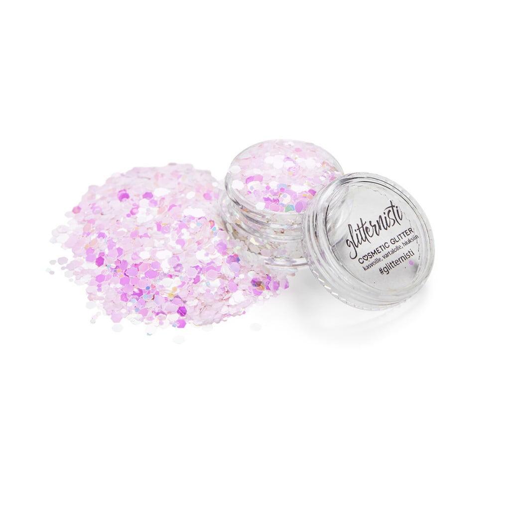 Ice bloom cosmetic glitter.